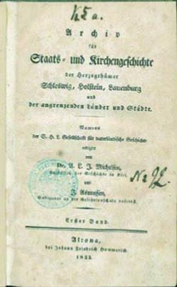 Die erste Publikation der Gesellschaft