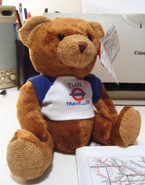 Tube Traveller Teddy Bear