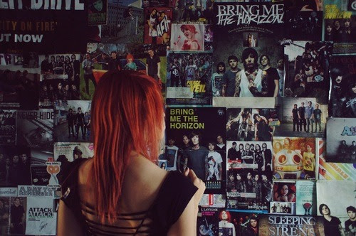 bedroom wall on Tumblr