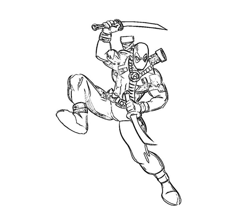 Deadpool Coloring Pages Printable - Coloring Home