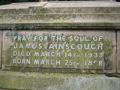 James Ainscough b.25th March 1858 – d.14th March 1933