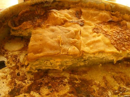 boureki with thick filo phyllo pastry