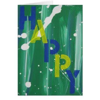 Graffiti Happy Card