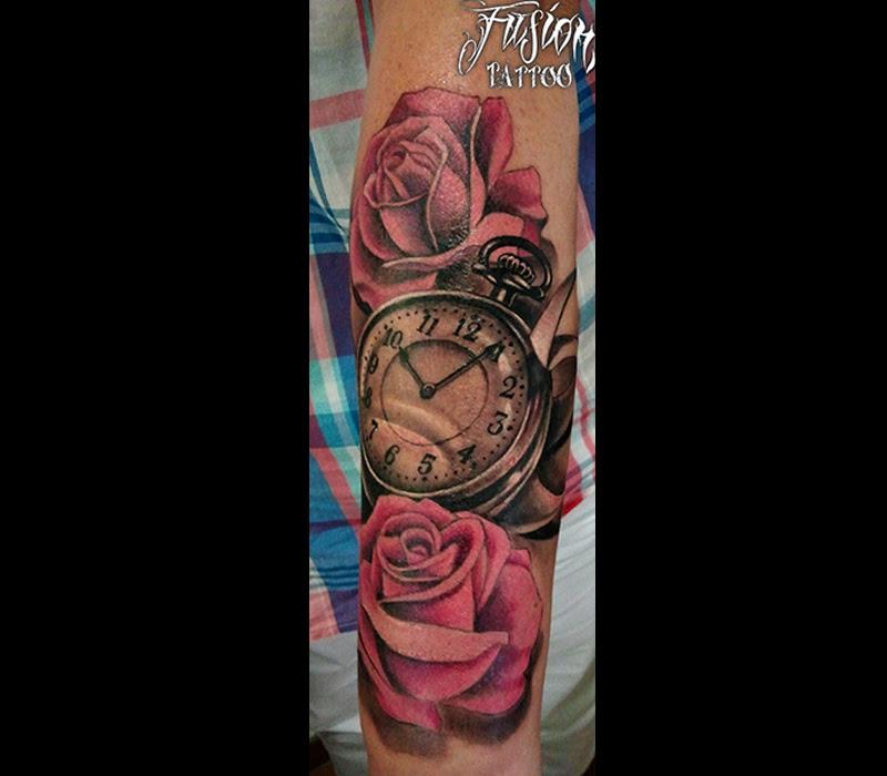 Reloj Con Rosas