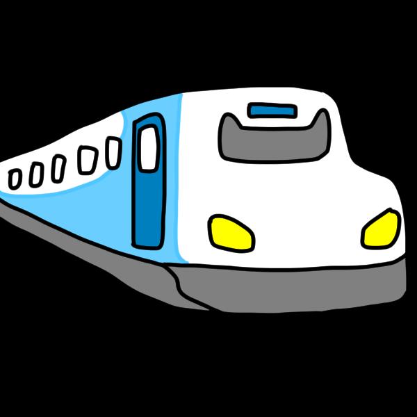 新幹線のイラスト かわいいフリー素材が無料のイラストレイン