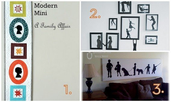 12 DIY Wall Art Ideas Using Silhouettes » Curbly | DIY Design ...