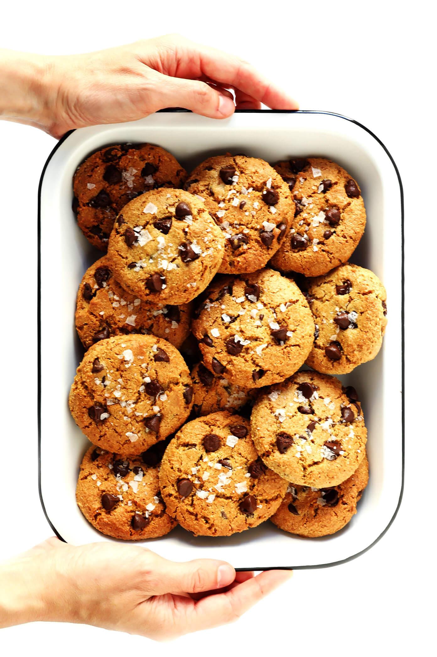 Flourless Chocolate Chip Cookies (Vegan + Gluten-Free)