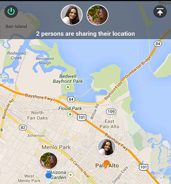 WeChat Real-time Location-sharing