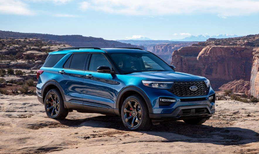 2020 ford explorer blue colors release date redesign