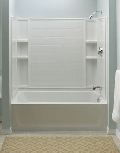 Sterling ensemble 71120112 60 in x 32 in bathtub shower for 6 tub shower combo