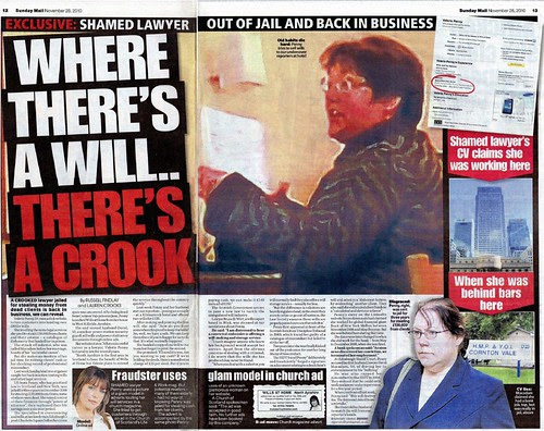 Where there's a will there's a crook - Sunday Mail November 28 2010