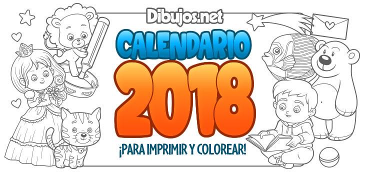 Calendario Infantil 2018 Para Imprimir Y Colorear Dibujos Net