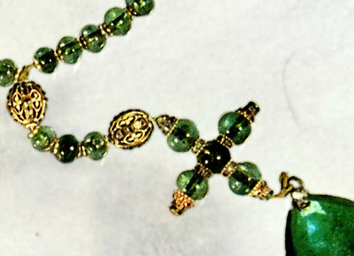 Emerald rosary, cross