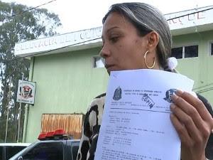 Isabel registrou B.O. após morte da mãe (Foto: Reprodução/TV Tem)