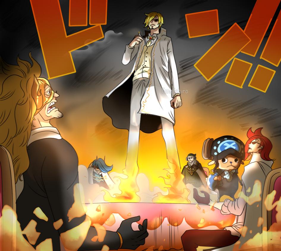 One Piece Sanji Haki Anime Top Wallpaper