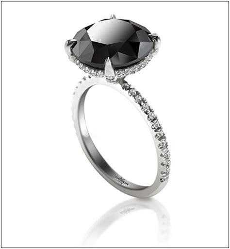 popular rings  newlyweds black diamond engagement
