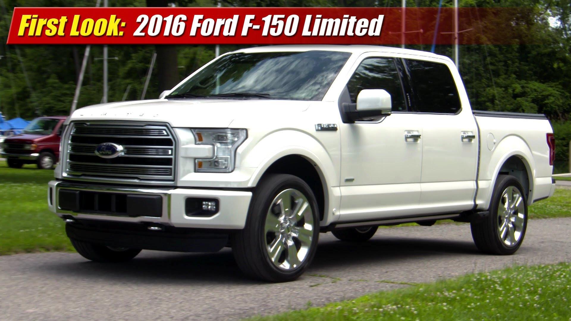 First Look 2016 Ford F 150 Limited Testdriventv