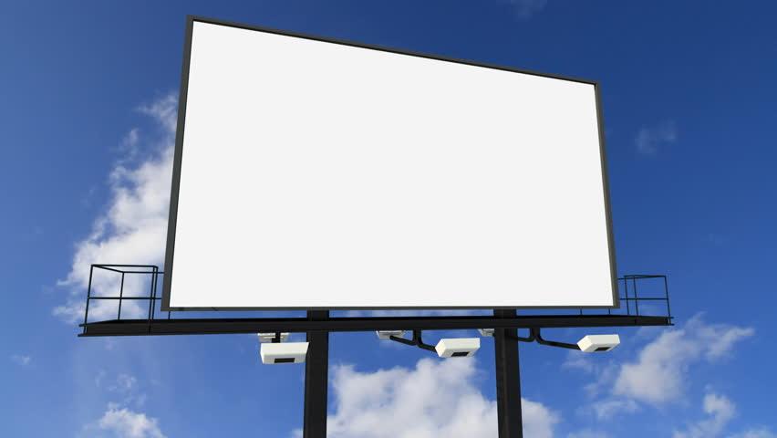 Blank Billboard. Looping Clouds Stock Footage Video 287149 ...