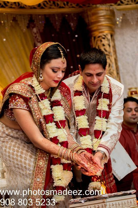 Bride and Groom's in Hindu Wedding Ceremony in Bridgewater