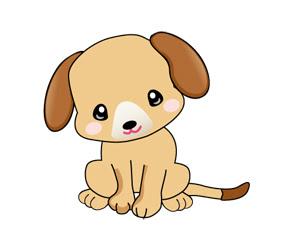 年賀状無料素材年賀状のイラスト屋さん可愛い犬のイラスト1