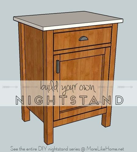 More like home nightstands day 8 classic cupboard for Bedside cabinet plans