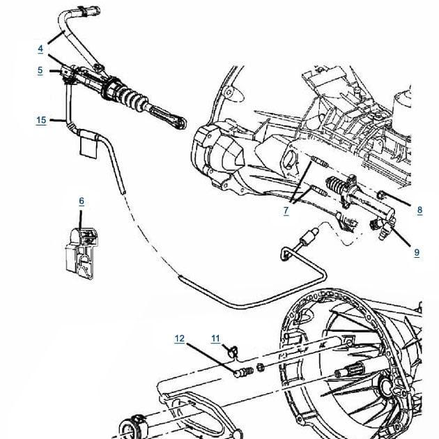jeep wrangler clutch diagram
