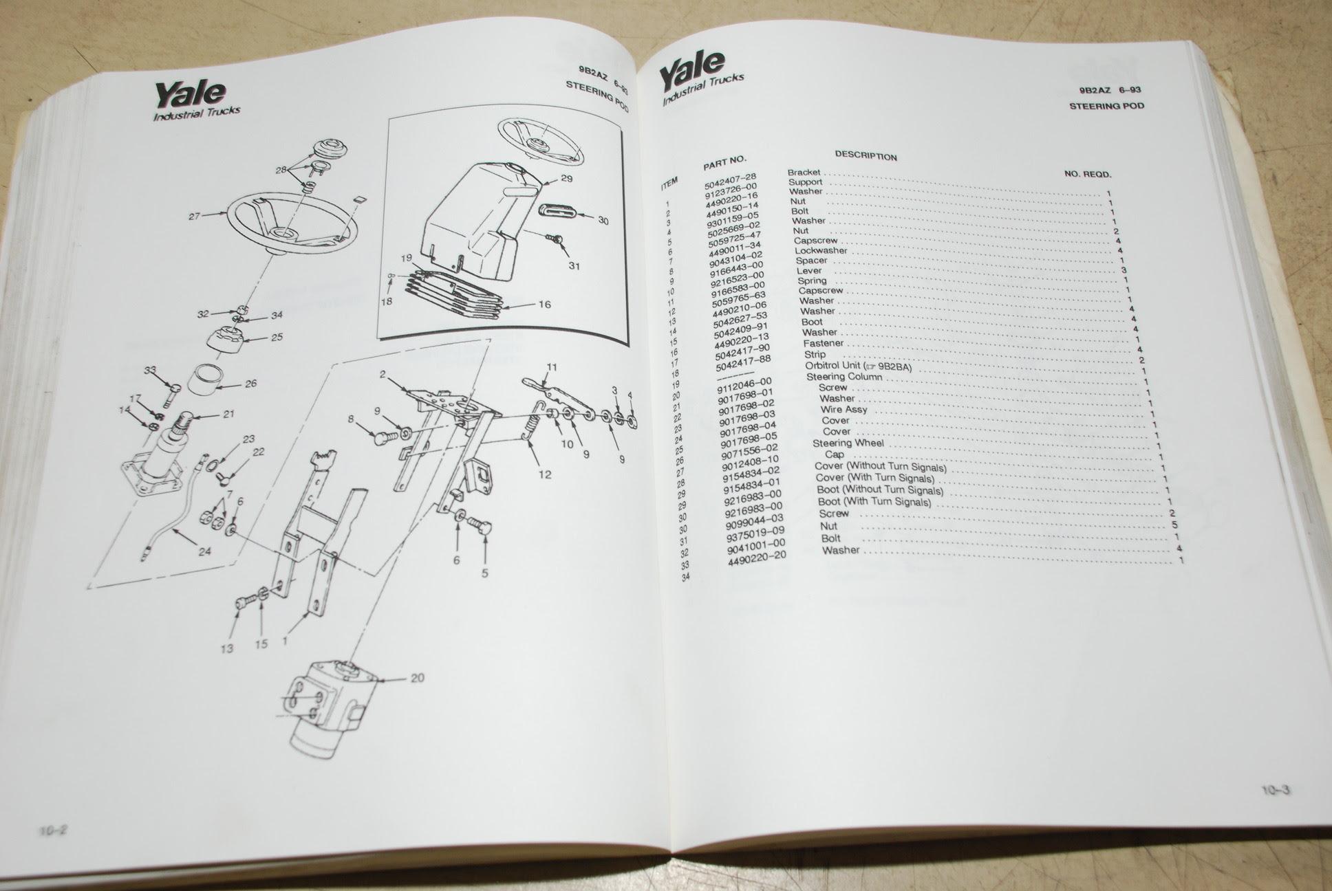 32 Yale Forklift Parts Diagram