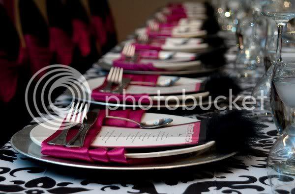 Pink Black And White Weddings Fonderfontanacountryinncom