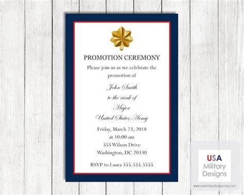 Army Promotion Ceremony Invitation Printable Army