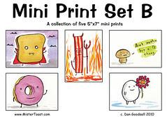 Mini Print Set B