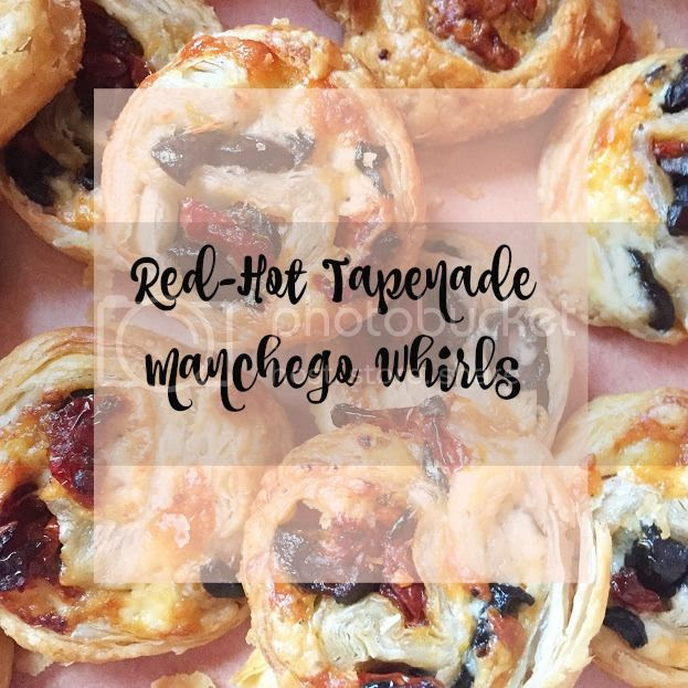 Red-Hot Tapenade Manchego Whirls