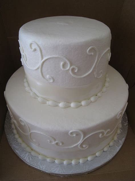 2 tier buttercream wedding cake   Wedding, Swirl design