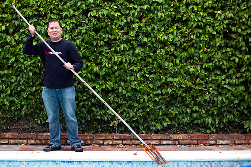 Manny the pool cleaner