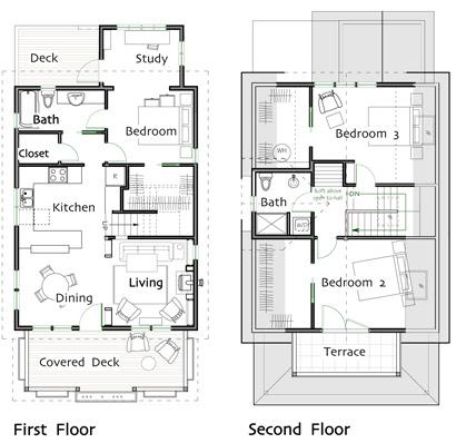 Bathroom Plans on Bedroom 1 Bathroom 1 Bathroom 2 Covered Porch Second Floor Bedroom 2