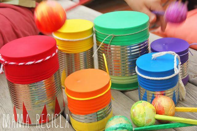 Mamà recicla: Instruments musicals / Instrumentos musicales / Instrumentos musicais