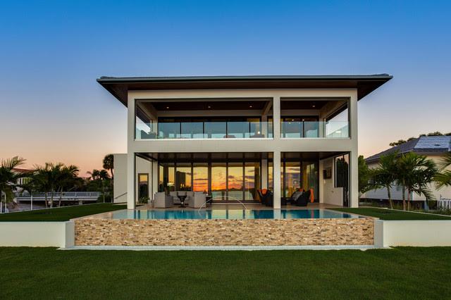 Bird Key Modern Bungalow Modern Haus \u0026 Fassade tampa