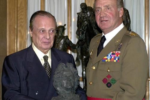 Sabino Fernández con el rey