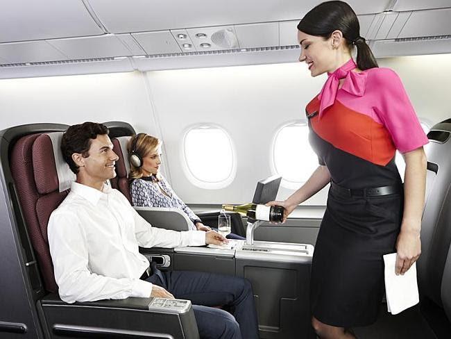 Not ideal...Cabin crew on the Qantas flight discovered the leak when they were preparing