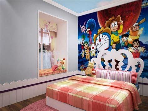 wallpaper kamar tidur elegan mewah murah doraemon
