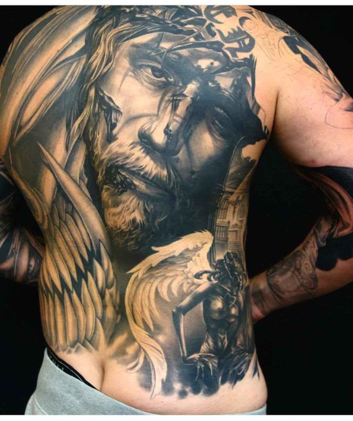 Full Back Jesus Tattoo Best Tattoo Ideas Gallery