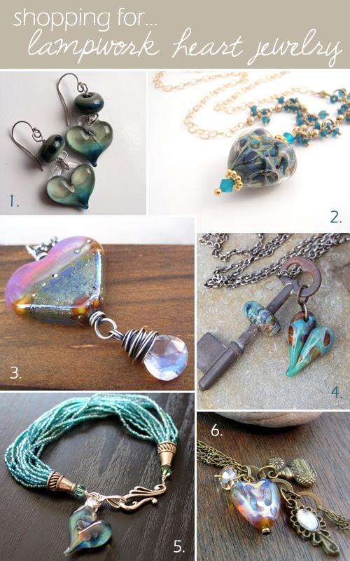 lampwork-heart-jewelry
