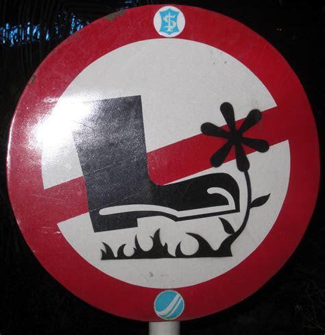 rambu rambu  tanda lucu  ampuh geti area