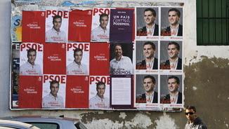 Cartells electorals de la campanya del 20-D (Reuters)