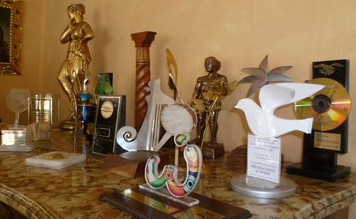 Los trofeos conquistados por Enriqueta Ulloa.