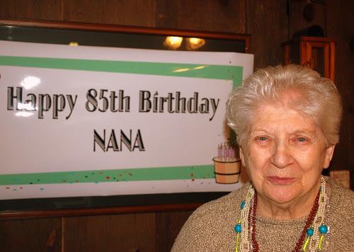 Nana with sign