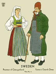 Festive and church dress, Östergötland