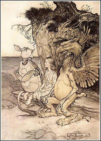 File:Alice in Wonderland by Arthur Rackham - 13 - That's very curious.jpg