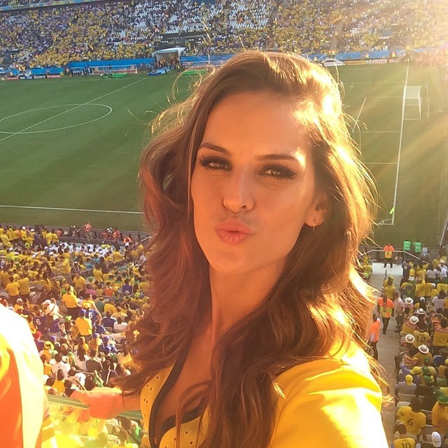 izabel world cup World Cup 2014: Models Showing Love for Their Teams