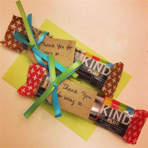 Cute thank you gift idea using KIND bars!   Crafty