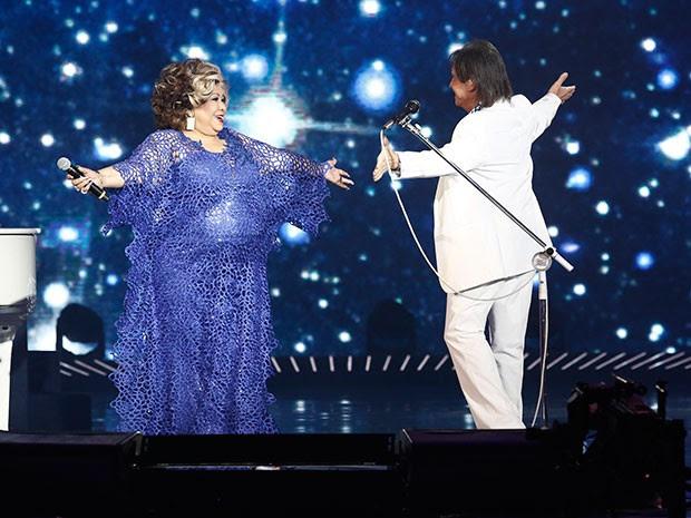 Alcione também canta com Roberto Carlos (Foto: Fábio Rocha/Gshow)